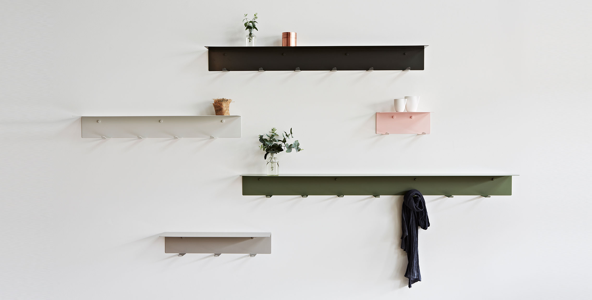 LifeSpaceJourney Wall Hook Shelf